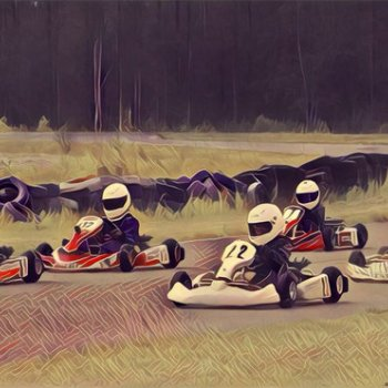 At the Ruukin Vauhtimaa karting circuit