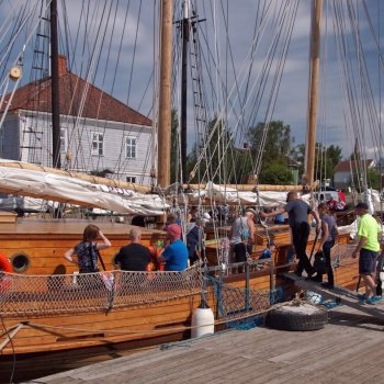 The sailing ship, galeas Ansio visiting Raahe Maritime Festival