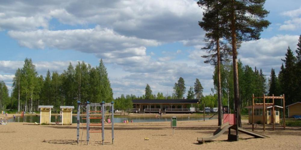 Lampinsaari swimming pond and camping area